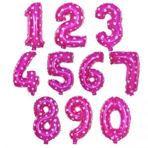 Вариант цветовой гаммы фольгированной цифры