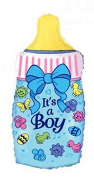 """Фольгированный шар с гелием """"Бутылочка для мальчика"""""""
